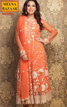 Embroidery Anarkati Suit on Nett Fabric