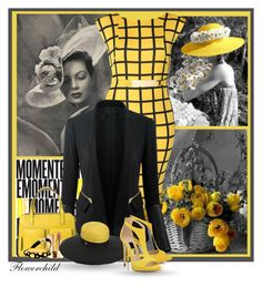"""Vintage Yellow & Black"" by flowerchild805 ❤ liked on Polyvore featuring Chicsense, Yves Saint Laurent, Emilio Pucci, Diane Von Furstenberg and vintage"