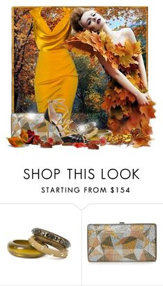 """""""Autumns golden glow"""" by doozer ❤ liked on Polyvore featuring Cushnie Et Ochs, ISLO, Judith Leiber and Gucci"""