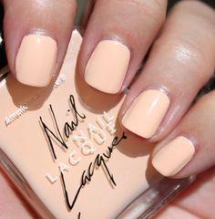 american apparel's peach nail polish.