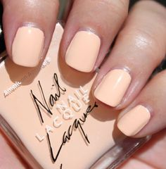 american apparel's peach nail polish.