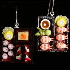 Sushi earrings!  They look good enough to eat!