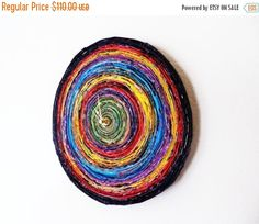 Sale Rainbow Wall Clock Housewares Home and Living by Shannybeebo
