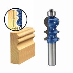 Drillpro RB25 1/2 Inch Shank Router Bit Carbide Woodworking Cutter Engraving Trimming