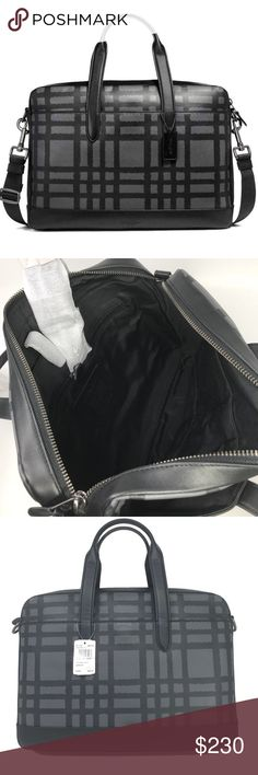 Coach Mens Hamilton Bag 100% Authentic Coach!  Buy with confidence!  • MSRP: $450.00 • Style: F11187  Features: • Smooth calf leather • Inside zip and multifunction pockets • Inside laptop sleeve • Zip closure, fabric lining • Handles with 5″ drop • Outside magnetic snap pockets • Detachable strap with 53 1/4″ drop for shoulder or crossbody wear • 15 3/4″ (L) x 11 1/2″ (H) x 2 3/4″ (W)  Please feel free to ask any questions. Happy shopping! Coach Bags Luggage & Travel Bags