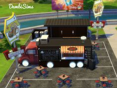 Food Truck Restaurant by dambisims at TSR • Sims 4 Updates