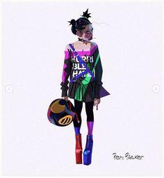 concept art Spider-Man: Into the Spider-Verse - art Spider Verse, Sketch Inspiration, Character Design Inspiration, Character Concept, Character Art, Character Sheet, Craig Mullins, Laser Tag, Spiderman Suits