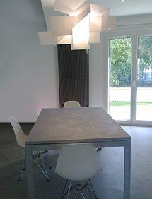 Decoration Salle à Manger Design Chaise Eames Et Table En Béton