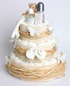 This 3 Tier Organic Nappy Cake