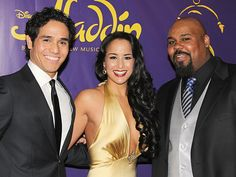 Photo 1 of 81 | Bravo! Aladdin stars James Monroe Iglehart, Adam Jacobs, Courtney Reed and Jonathan Freeman take their first official bows. | Roll Out the Magic Carpet! The Stars of Aladdin Celebrate in Style on Opening Night | Broadway.com
