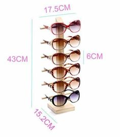 Wood Sunglasses Stand