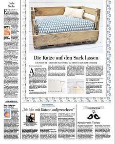 [Die Katze auf den Sack lassen] Meine kostenlose Nähanleitung für ein Hunde- und Katzenkissen hat es doch tatsächlich in die Märkische Allgemeine Zeitung geschafft :) Den ganzen Artikel findet ihr auch auf meinem Blog, genauso wie das kostenlose Schnittmuster: https://zuckerundzimtdesign.com/2017/10/19/die-katze-auf-den-sack-lassen-zuckerzimt-kommt-in-die-zeitung/ #nähen #katze #hund #weinkiste #katzenkissen #katzenkörbchen #hundekissen #hundekörbchen #sew #sewing #cat #dog #diy…