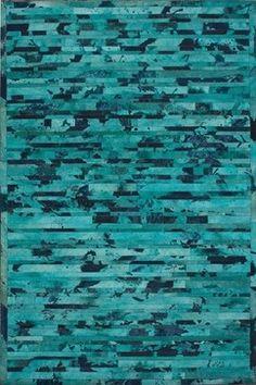 Hudson Chevron Turquoise Rug - modern - rugs - AllModern