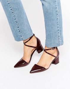Miss KG | Miss KG Ava Ankle Strap Point Mid Heeled Shoes