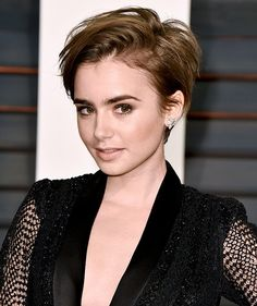 the pixie hair cut is back, and im loving it on lily collins, nicole richie, jennifer hudson, rita ora, zendaya, and scarlett johansson