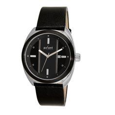Axcent of Scandinavia: Reloj de cuero negro y esfera negra con rayas en gris.  http://www.tutunca.es/reloj-racer-negro