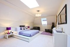 Beautiful bedroom colour scheme with lilac, pink and white Kings Home, Bedroom Color Schemes, Property Development, Lilac, Pink, Beautiful Bedrooms, Colour, Color, Syringa Vulgaris