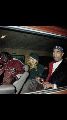 The notorious big & Kurt cobain & 2pac, Tupac Shakur, 90s Hip Hop, Hip Hop Rap, Rap Music, Music Icon, Hip Hop Artists, Music Artists, Kurt Cobain