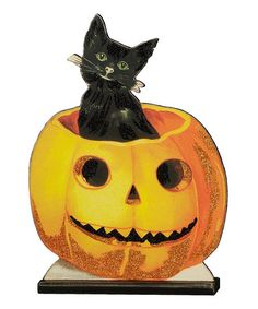 Take a look at this Jack & Cat Figurine by Primitives by Kathy on #zulily today!