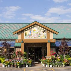 The front of The Glasshouse has never looked so bright! Visit http://www.glasshousenursery.ca