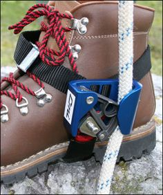 Tree Climbers Foot Ascenders,CMI Foot Ascender,Aluminum RightCMI Foot Ascender (left) - I have a pro deal, see meRope climbing is made easier by the CMI Foot Ascender.Inner Mountain Outfitters is your best resource for caving, climbing and rope acces Survival Shelter, Survival Tools, Camping Survival, Camping Gear, Family Camping, Camping Fridge, Survival Equipment, Camping Stove, Camping Outdoors