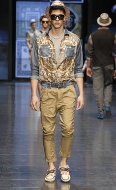 D Spring/Summer 2012 Men's Fashion Show Collection: Trendy & Iconic Italian Heritage Patterns & Sicilian Relaxing Lifestyle Inspiration