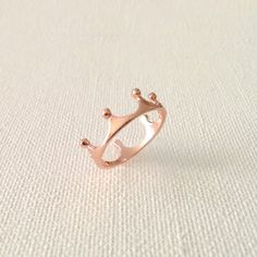 Dainty Rose Gold Tiara Ring Tiara Crown Ring Dainty by DaintyPoint, $9.50