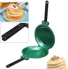 Inch Flip Double Side Ceramic Frying Pan Non Stick Round Cakes Pancake Toast Egg Belize, Healthy Meals To Cook, Healthy Cooking, Healthy Food, Wok, Puerto Rico, Tostadas, Pancake Maker, Pancake Pan