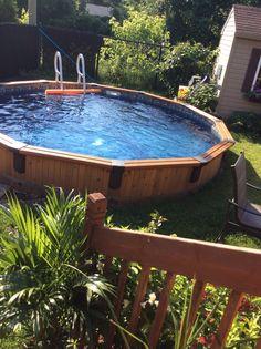 Semi Inground Pool In Cedar