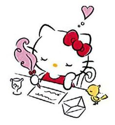 Hello Kitty writes a letter to someone special <3