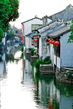 A canal scene in the water town of Zhouzhuang, China Joey, you have to visit all these beautiful places in China. I can't wait to see your pics.