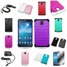 For Samsung Galaxy Note 3 Diamond Hybrid Hard Soft Cover Case