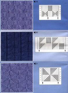 Простые узоры спицами / Вязание спицами