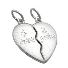 Jewelry couples jewelry pendants pendant partner heart 4ever 2gether from 925 silver 21x19mm