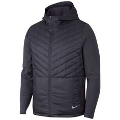 Nike AeroLayer Men's Hooded Running Jacket Size S (Gridiron) Mens Nike Jacket, Jacket Men, Running In Cold Weather, Running Jacket, Nike Outfits, Casual Outfits, Full Zip Hoodie, Jackets Online, Warriors