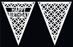 Pennants 8 by Bird ~ free shape for cutting