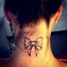 Neck Tattoo.