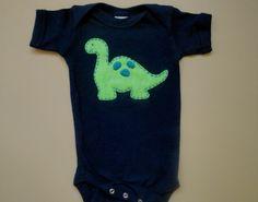 Personalized Dinosaur Onesie on Etsy, $20.00