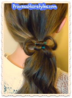 Elastic wrap hair bow tutorial