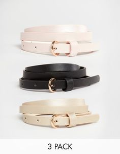 ASOS 3 Pack Skinny Waist And Hip Belts In Pastel Metallic at asos.com cb53f98346a