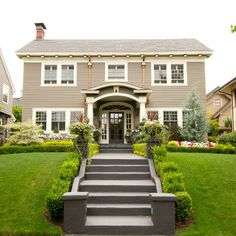 Colonial House Front Stairs Exterior Design on exterior stair design ideas, exterior front curved stairs, front entry designs, exterior front stair railings, exterior entry design ideas, exterior concrete stairs, exterior step designs, door designs, front porch stair designs,
