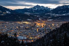 Innsbruck from above by Bernhard Kapelari - Photo 141505765 - 500px