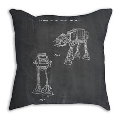 Star Wars AT AT Imperial Walker Pillow Star Wars by PatentPrints