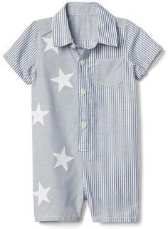 Stars and stripes shorty one-piece