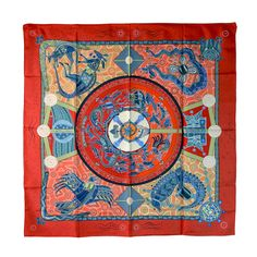 Magnificent Hermes Australia Motif Silk Scarf | From a collection of rare vintage scarves at http://www.1stdibs.com/fashion/accessories/scarves/