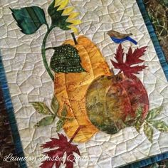 Laundry Basket Quilt of the Day - Seasonal Silhouettes October Block 10 Fall Patterns, Applique Patterns, Applique Quilts, Quilt Patterns, Applique Ideas, Wool Applique, Laundry Basket Quilts, Laundry Baskets, Fall Quilts