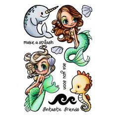 Under the Sea Mae Clear Stamp   Some Odd Girl stamps – SomeOddGirl