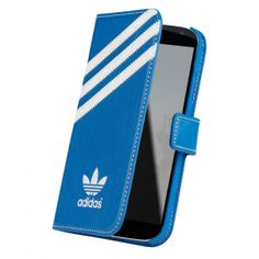 Magnifique étui Samsung galaxy s4 bleu folio Adidas.