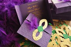 Mardi Gras Invitations / Wedding / Quinceanera by InvitatiiCouture, $3.60