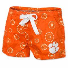 Clemson Tigers Ladies' Medallion Pajama Shorts
